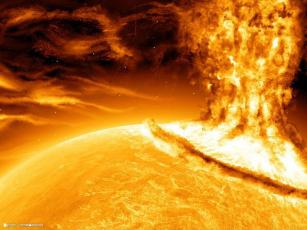 El sol. Primer rayo