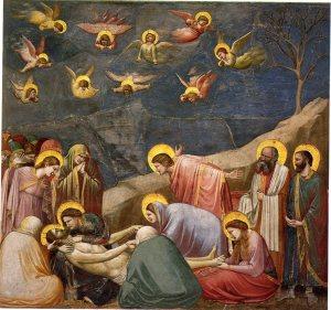 Lamentos acerca de la muerte de Cristo. Giotto