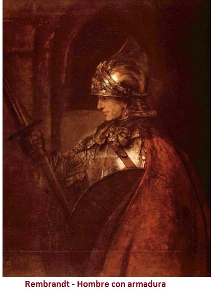 rembrandt-hombre con armadura