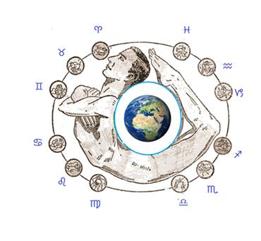 hombre cosmico tierra